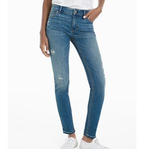 WHBM Distressed Skimmer Jeans